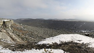 Над Бахчисараем, за 6ым районом. Февраль 2012